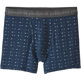 "Patagonia M's Essential Boxer Brief 3"" Tiger Micro/Stone Blue"